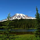 """Mount Rainier and Reflection Lake"" by Lynn Bawden"