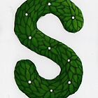 Topiary Alphabet &quot;s&quot; Coloured by Donnahuntriss