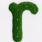 "Topiary Alphabet ""r"" Coloured by Donna Huntriss"