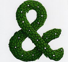 Topiary Ampersand (Coloured) by Donna Huntriss