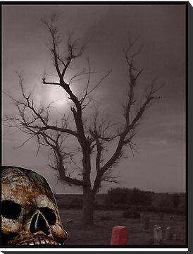 Spooky Cemetery and Skull Photo Mashup by THarmonArt