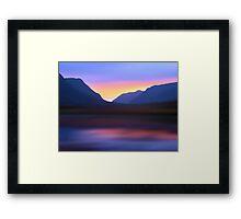 Mountain Dusk Framed Print