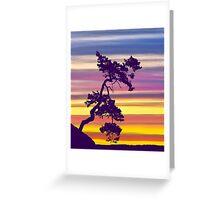 One Tree Hill Sunrise Greeting Card