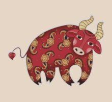 Red Decorative Bull by Aleksandra :)