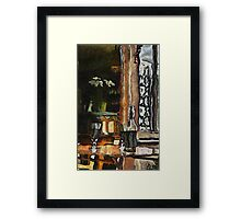Vincent's table? Auberge Ravoux, France Framed Print