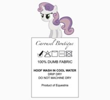 Dumb Fabric - Washing Instructions by phyrjc2