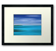Tropical Desert Island Framed Print