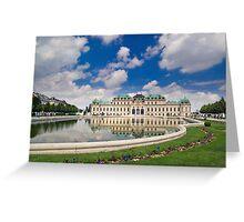 Belvedere Palace, Vienna, Austria Greeting Card