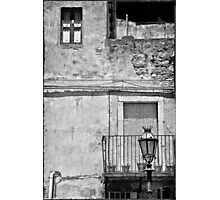 Old house in Taormina, Sicily Photographic Print