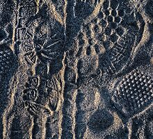 Shoeprints in the Sand by njordphoto