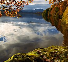 Autumn on Loch Achray, Scotland by David Alexander Elder