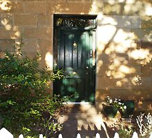 Bacon Cottage Door, Ross, Tas by Wendy Dyer