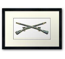 U.S. Infantry Cross Rifles Insignia Bronze Sculpture Framed Print