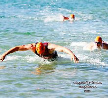 Kingscliff Triathlon 2011 Swim leg C332 by Gavin Lardner