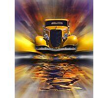 Yellow Splash Photographic Print