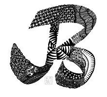 Alphabet Doodles - B by KMartinez