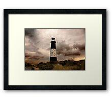 The Old Lighthouse - Spurn Point. Framed Print