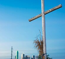 Cross On A Hill Near Dallas by Ken  Hurst