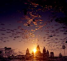 the sacred kingdom - sunrise at angkor wat by ontoshiki