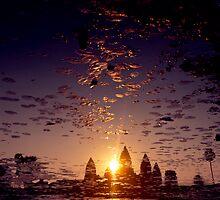 the sacred kingdom - sunrise at angkor wat by ontoshiki