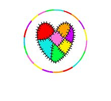 colourful patchwork heart by mrsmcvitty