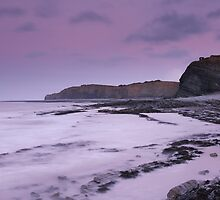 Lilac Tones of Kilve Beach by kernuak
