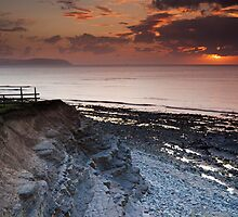 Kilve Stormy Sunset by kernuak