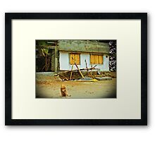 Mortality - A Tale of Two Structures (please see description) Framed Print