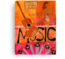 MUSIC Makes Me Wanna Dance Canvas Print