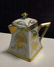 """Gilded Ceramic Creamer Circa 1930"" by waddleudo"
