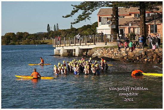 Kingscliff Triathlon 2011 Swim leg P126 by Gavin Lardner