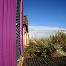 Cute Purple Beach Hut by Amy-lee Foley