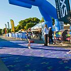 Kingscliff Triathlon 2011 finish line B5889 by Gavin Lardner