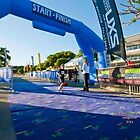 Kingscliff Triathlon 2011 Finish line B5892 by Gavin Lardner