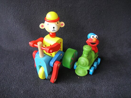 Monkey & Elmo by Wendy Dyer