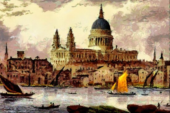 Beautiful Britain - Sir Christopher Wren's St Paul's Cathedral by Dennis Melling