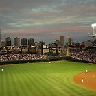 Wrigley Field at Dusk by John Gaffen