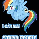 Stupid people Rainbow Dash by Kuzcorish