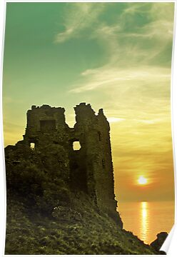 Sunsets over an ancient Scottish Castle by David Alexander Elder