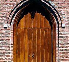 Gothic Wooden Church Door by Kenneth Keifer