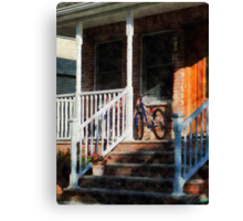 Bicycle on Porch Canvas Print