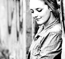 Melbourne Portrait Shoot 6 B/W by Trish Woodford