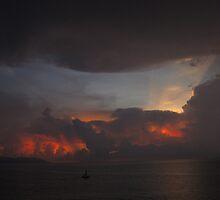 Glowing sky II by Bernhard Matejka