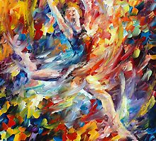 BURNING FLIGHT - LEONID AFREMOV by Leonid  Afremov