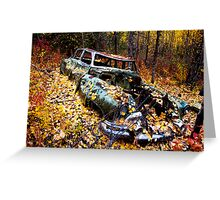 Car in Woods Greeting Card
