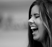 Woman Laughing by AlexanderFord