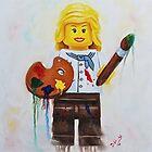 lego Madam Artist by Deborah Cauchi