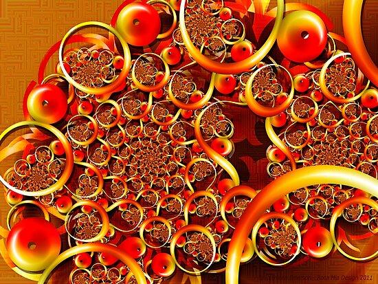 Autumn Feast (Fibonacci Julia) by rocamiadesign