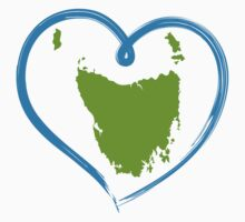 I love Tasmania - Sticker by Anny Arden