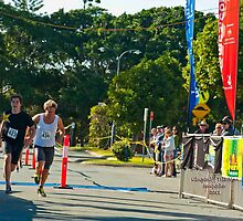 Kingscliff Triathlon 2011 Finish line B6005 by Gavin Lardner